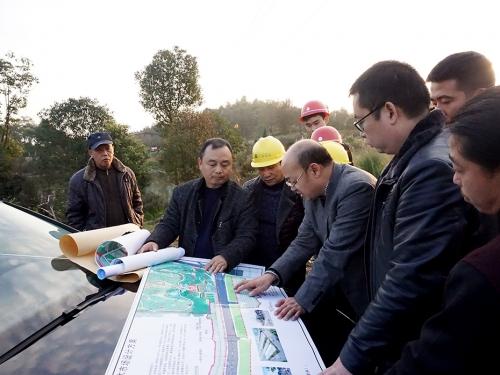 李云春局长调研植物园二期建设情况